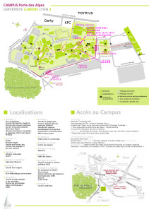 Plan d'accès Icom Campus de Bron