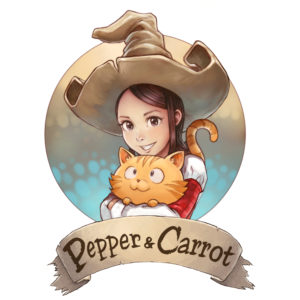 Pepper&Carrot web comics logo
