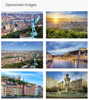Panel d'images sponsorisées de Shutterstock