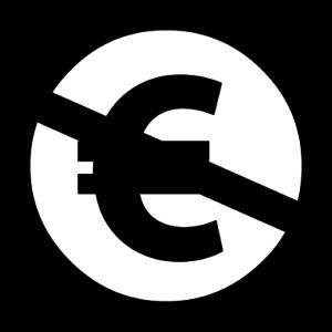 Logo CC NC (Non Commercial) Euro