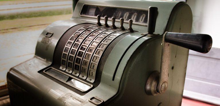 Une ancienne enregistreuse