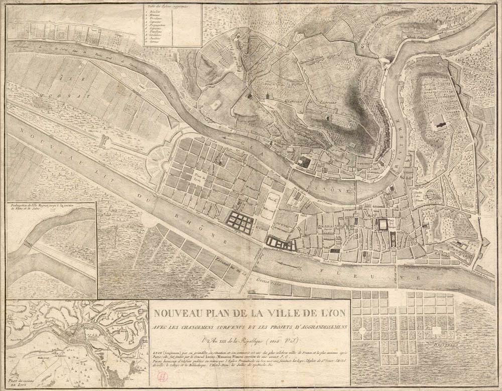 Nouveau plan de la ville de Lyon
