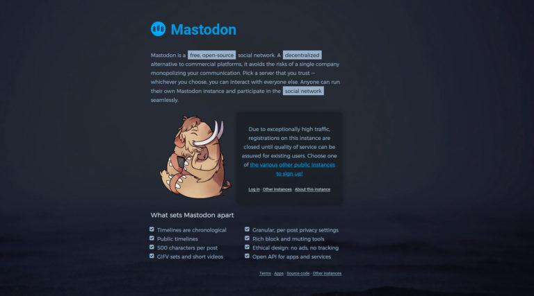 mastodon accueil