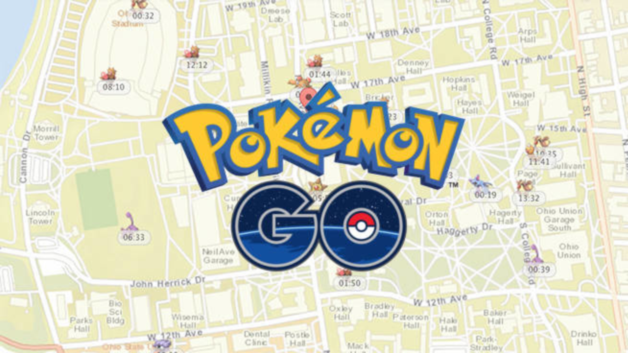 Pokémon GO sur Open Street Map