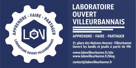 Affirmer l'identité visuelle du LOV (Laboratoire Ouvert Lyonnais)